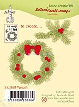 Picture of Combi stamp Wreath