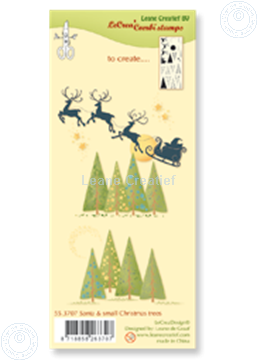 Picture of Combi stamp Santa & small Christmas trees