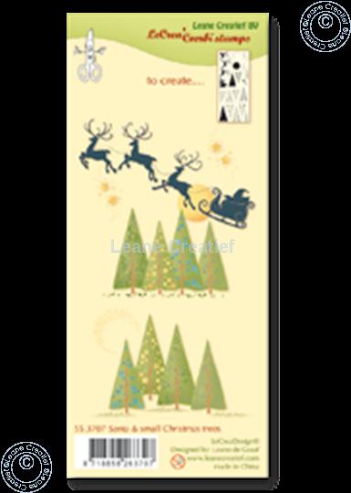 Bild von Combi stamp Santa & small Christmas trees