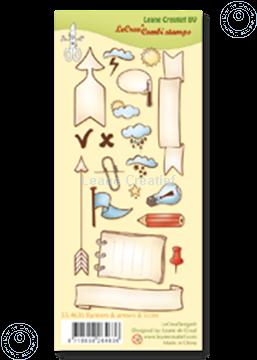 Afbeeldingen van Clear stamp Banners, arrows & icons