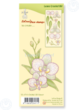 Afbeeldingen van Clear stamp Orchid 3D flower