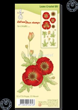 Afbeeldingen van Clear stamp Poppy 3D flower