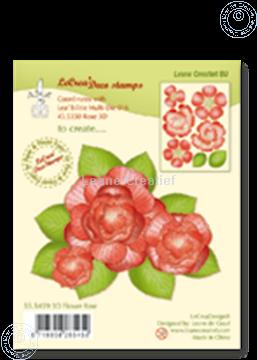 Afbeeldingen van Clear stamp 3D flower Rose