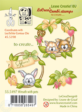 Bild von Combi stamp Wreath with pets
