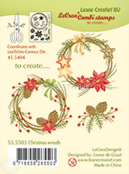 Bild von Combi stamp Christmas wreath