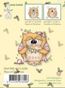 Image de Clearstamp Owlie´s Owl008 Pipa at Christmas