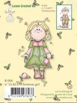 Image de Clearstamp Bambinie´s B006 Christmas girl