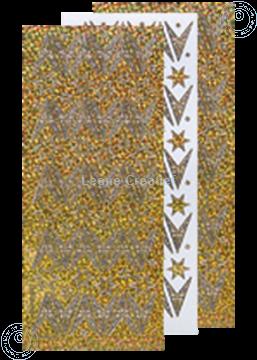 Afbeeldingen van Kerst stickers Diamant goud ster