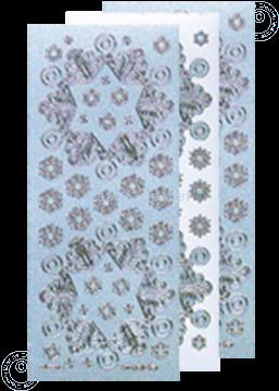 Image de Sticker de Noël Pearl d'argent flocon de neige