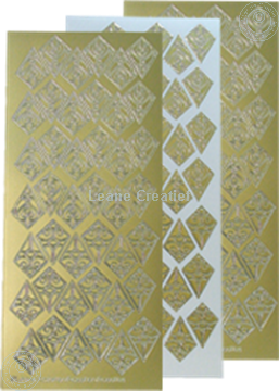 Picture of LeCreaDesign® Rosettes stickers / peel offs gold