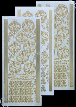Afbeeldingen van Kerstbal stickers pearl zilver goud