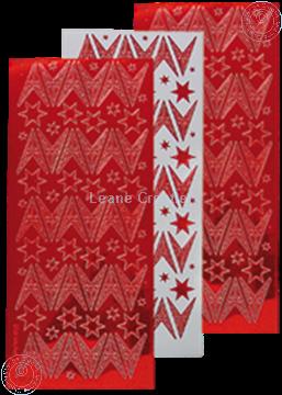 Afbeeldingen van Kerst stickers mirror rood ster