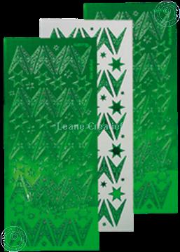 Afbeeldingen van Kerst stickers mirror groen ster