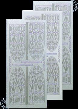 Image de LeCreaDesign® sticker vitrail d'église pearl d'argent