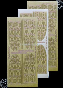 Afbeeldingen van LeCreaDesign® kerkraam sticker pearl goud
