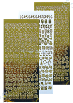 Picture of LeCreaDesign® lace ornament sticker mirror gold