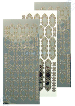 Picture of LeCreaDesign® lace sticker mirror silver/gold