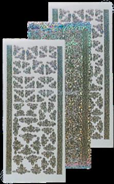 Afbeeldingen van Stickers diamond zilver
