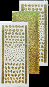 Image de Sticker boules de Noël & houx diamond gold