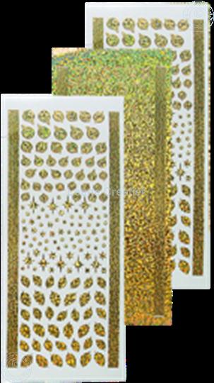 Image sur Sticker boules de Noël & houx diamond gold