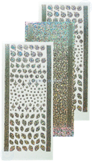 Image sur Sticker boules de Noël & houx diamond silver
