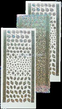 Bild von Sticker Weihnachtskugeln & Stechpalme diamond silver