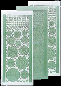 Image de LeCreaDesign® Sticker fleurs pearl green
