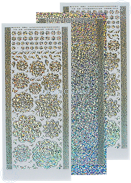 Image de LeCreaDesign® Sticker fleurs diamond/silver