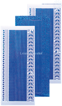 Picture of Lines stickers diamond blue
