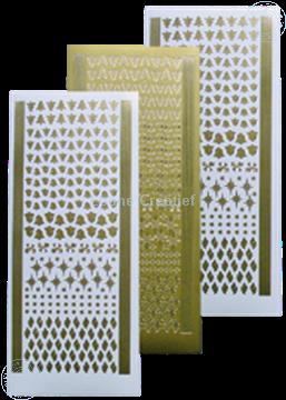 Afbeeldingen van Stickers kerst ornamentjes gold