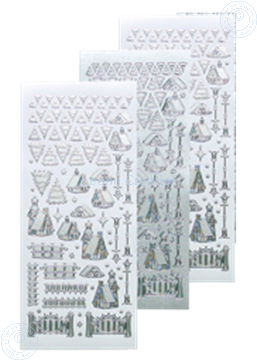 Bild von Winter scenery sticker #40 silver