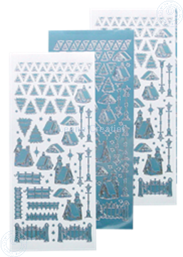 Afbeeldingen van Winter scenery sticker #40 mirror ice