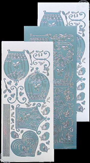 Afbeelding van LeCreaDesign® sticker vogelkooitjes mirror ice