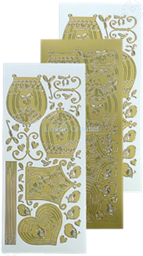 Picture of LeCreaDesign® sticker birdcage gold