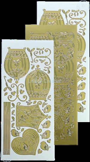Picture of LeCreaDesign® sticker birdcage gold