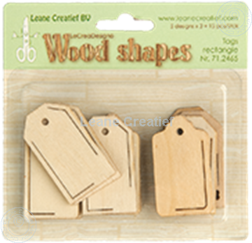 Afbeeldingen van Woodshapes Tags rectangle