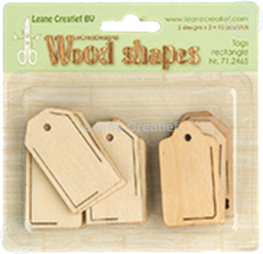 Picture of Woodshapes Tags rectangle
