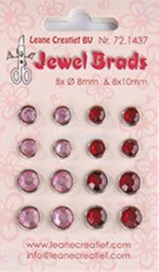 Image sur Jewel brads bordeaux / light pink