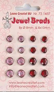 Image de Jewel brads bordeaux / light pink