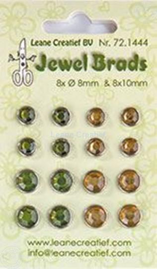 Image sur Jewel brads moss green/light gold