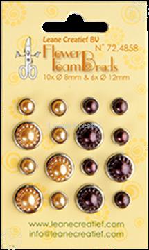 Image de Pearl brads yellow/brown