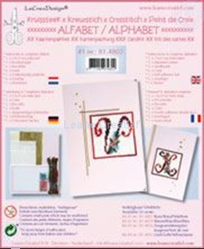 Picture of Alphabet cross stitch cards kit #1