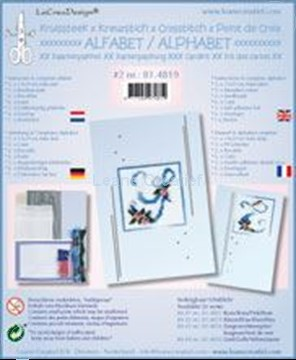 Picture of Alphabet cross stitch cards kit #2