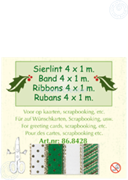 Picture of Ribbon 4x1 m green colors
