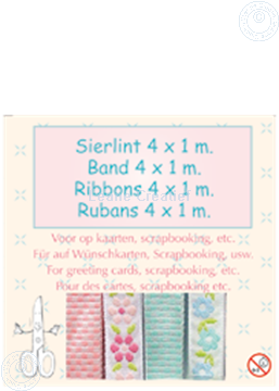 Picture of Ribbon 4x1 m blue/pink