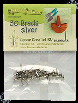 Image de 30 Brads silver 5mm
