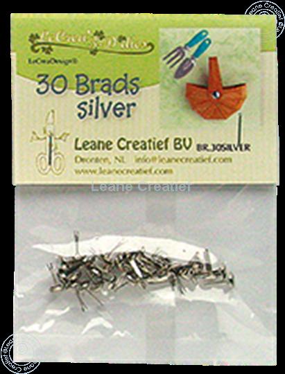 Image sur 30 Brads silver 5mm