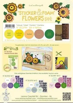 Image de Sticker &  Foam de fleurs assortiment  4 Jaun