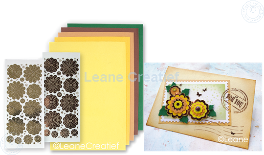 Picture of Sticker &  Foam Flowers Set 4 Yellow