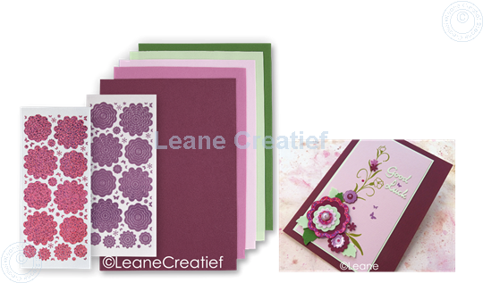 Picture of Sticker &  Foam Flowers Set 3 burgundy Pink